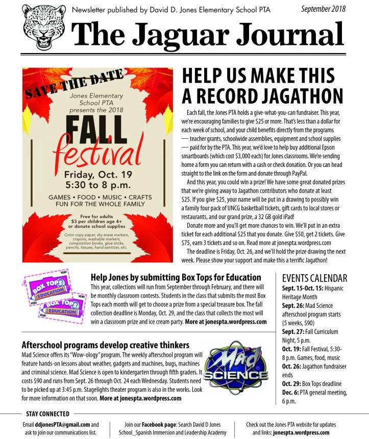 JJ newsletter-September 2018